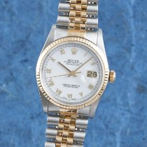 Rolex Datejust Goud/Staal 36mm Wit