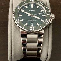 Oris 01 733 7730 4157-07 8 24 05PEB Steel 2020 Aquis Date 43.5mm pre-owned