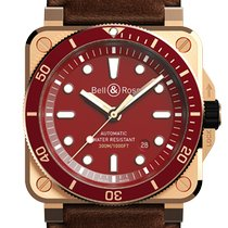 Bell & Ross Bronze Automatic Red 42mm new BR 03