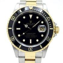 Rolex Submariner Date Желтое золото 40mm Черный