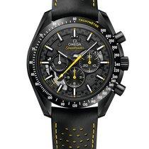 Omega Carbono Cuerda manual Negro Sin cifras 44.25mm nuevo Speedmaster Professional Moonwatch