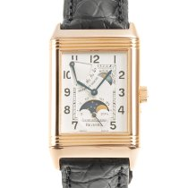 Jaeger-LeCoultre Red gold Manual winding Silver 36.5mm pre-owned Reverso (submodel)