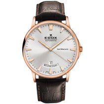Edox Les Bémonts Steel 42mm Silver