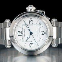 Cartier Pasha C usato Bianco Acciaio