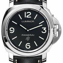 Panerai Luminor Base Logo Staal 44mm Zwart Arabisch
