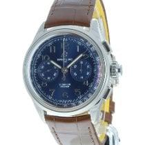 Breitling neu Handaufzug Sichtboden Chronometer 42mm Stahl Saphirglas