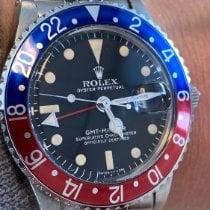 Rolex GMT-Master Staal 40mm Zwart Geen cijfers Nederland