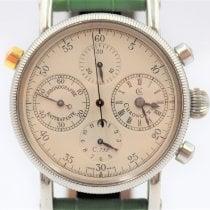 Chronoswiss Chronograph Rattrapante Steel 38mm White Arabic numerals