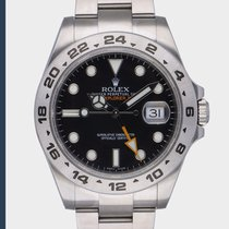 Rolex Explorer II Acier 42mm Noir Sans chiffres