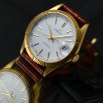 Lorenz new Automatic Central seconds Screw-Down Crown Quick Set Only Original Parts 35mm Yellow gold Sapphire crystal