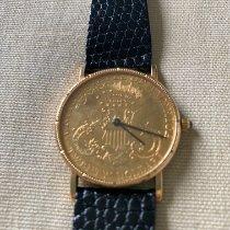 Corum 082.355-56 Gelbgold 1967 Coin Watch gebraucht