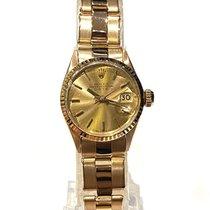 Rolex Oyster Perpetual Lady Date 6517 Muito bom Ouro amarelo 26mm Automático Brasil