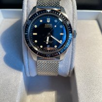 Oris Divers Sixty Five pre-owned 40mm Black Date Leather