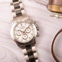 Rolex Daytona Steel 40mm White No numerals Australia