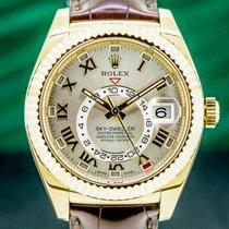 Rolex Rose gold Automatic Roman numerals 42mm Sky-Dweller