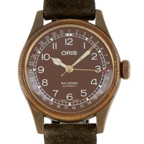 Oris Big Crown Pointer Date pre-owned 40mm Brown Date Leather