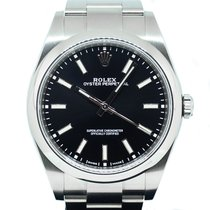 Rolex Oyster Perpetual 39 Steel 39mm Black No numerals Singapore