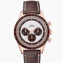 Omega Oro rosa Cuerda manual Blanco Sin cifras 39.7mm nuevo Speedmaster Professional Moonwatch