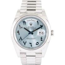 Rolex Day-Date 40 Platinum 40mm Blue Arabic numerals UAE, Dubai