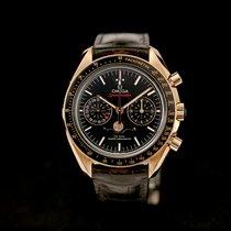 Omega Oro rosa Automático Negro usados Speedmaster Professional Moonwatch Moonphase