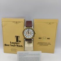 Longines Lindbergh Hour Angle Gold/Steel 38mm White Roman numerals