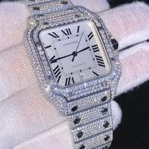 Cartier Santos (submodel) Steel 39.8mm Silver Roman numerals United States of America, New Jersey, Woodbridge