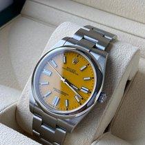 Rolex Oyster Perpetual Сталь 41mm Желтый Без цифр