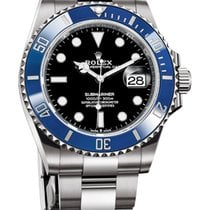 Rolex White gold Automatic Black No numerals 41mm new Submariner Date