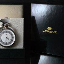 Lorenz new Quartz Central seconds Only Original Parts 42mm Silver Mineral Glass