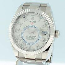 Rolex White gold Automatic Champagne Arabic numerals 42mm Sky-Dweller