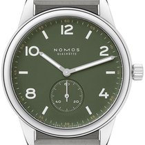 NOMOS Steel 40mm Automatic 753.s3 Olive Green 175 Edition new United States of America, New York, Airmont
