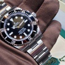 Rolex Submariner (No Date) Stahl 40mm Schwarz Keine Ziffern Schweiz, Geneve