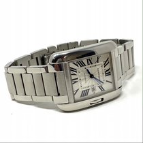 Cartier Steel Automatic Silver Roman numerals new Tank Anglaise