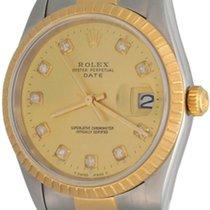 Rolex Oyster Perpetual Date Acciaio 34mm Champagne Senza numeri