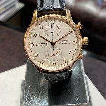 IWC Portuguese Chronograph Aur roz Argint Arabic