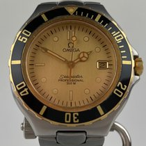 Omega Seamaster Gold/Steel 38mm Champagne No numerals
