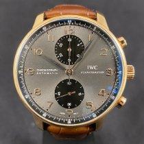 IWC Portuguese Chronograph Pозовое золото 40.9mm Cерый Aрабские