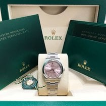 Rolex Oyster Perpetual 34 Steel 34mm Pink No numerals United States of America, New York, NEW YORK
