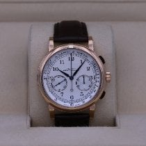 A. Lange & Söhne pre-owned Manual winding 39.5mm Silver Sapphire crystal 3 ATM