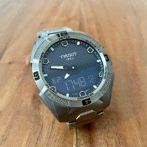 Tissot T-Touch Expert Solar gebraucht 45mm Blau Chronograph Datum Wochentagsanzeige Monatsanzeige Jahresanzeige Wecker Titan