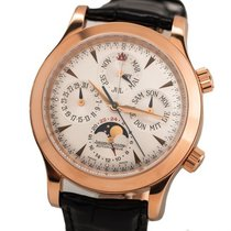 Jaeger-LeCoultre Rose gold Automatic Black No numerals 41.5mm pre-owned Master Memovox