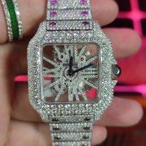 卡地亚 Santos (submodel) Cartier Santos De Cartier Skeleton steel gold Diamonds  Private custom Circular diamond High-quality diamonds 全新 钢 39.8mm 自动上弦 中国, nanning