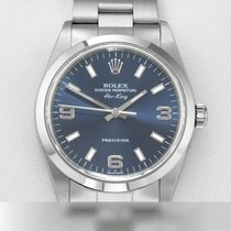 Rolex Air King Precision Stahl 34mm Blau Arabisch