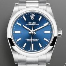 Rolex Oyster Perpetual 34 Steel 34mm Blue No numerals United Kingdom, Shrewsbury