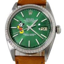 Rolex Datejust Steel 36mm Green No numerals