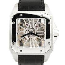 Cartier Palladium Automatic Transparent Roman numerals 41mm pre-owned Santos (submodel)