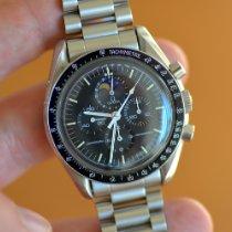 Omega Speedmaster Professional Moonwatch Moonphase Staal 42mm Zwart Geen cijfers