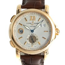 Ulysse Nardin Dual Time Yellow gold 42mm Silver