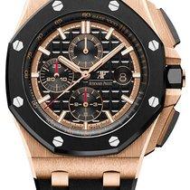 Audemars Piguet Rose gold Automatic Black No numerals 44mm new Royal Oak Offshore Chronograph