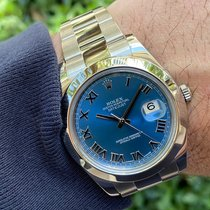 Rolex Datejust II pre-owned 41mm Blue Date Steel